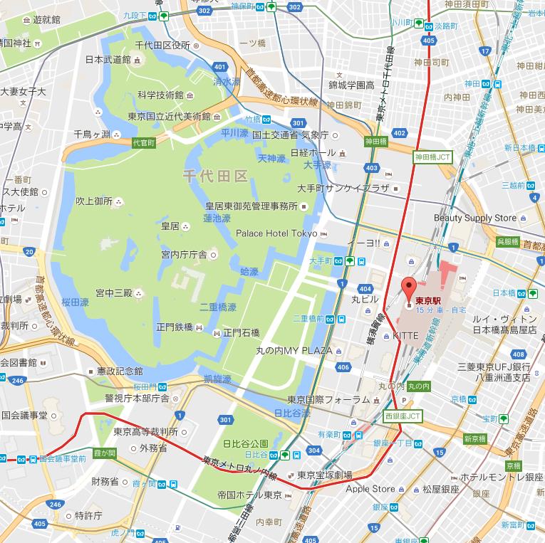 Googlemap東京駅